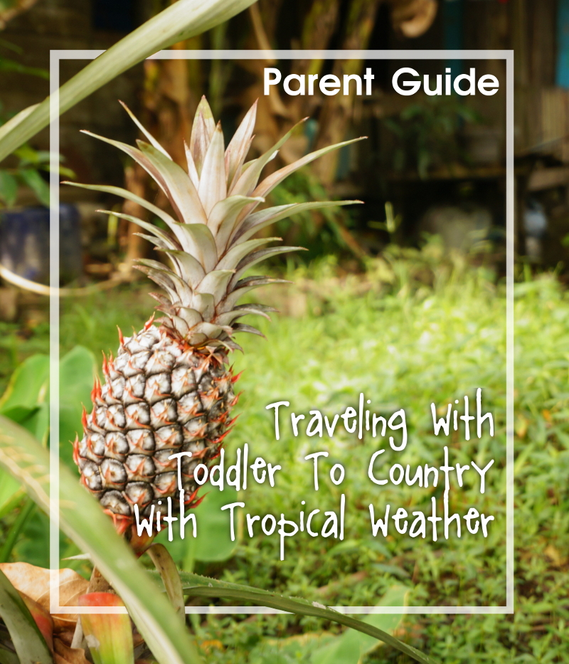 Parent guide: traveling with toddler to country with tropical weather