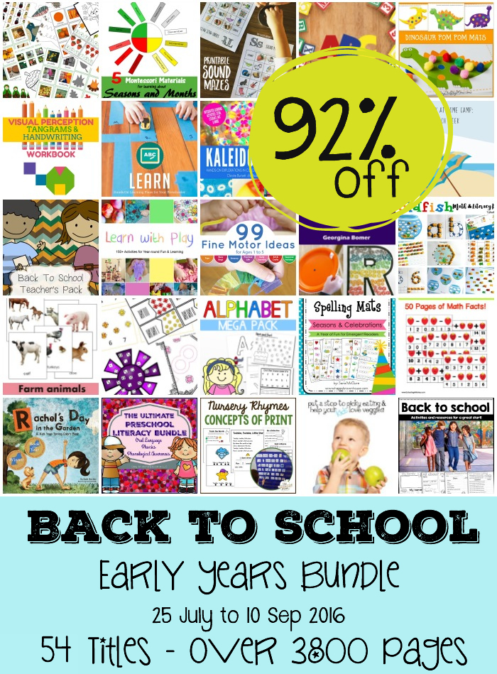 Back to school and early years bundle sale 92% OFF