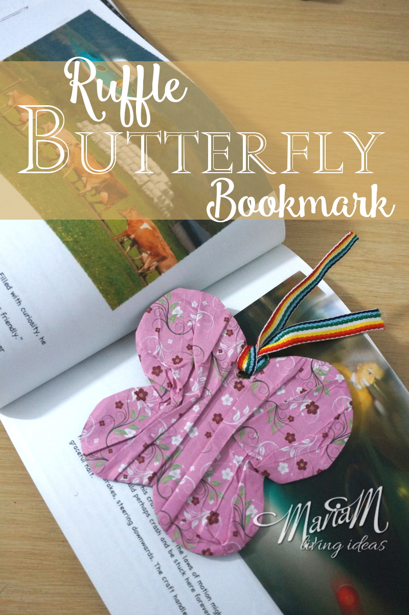 Ruffle Butterfly Bookmark 1